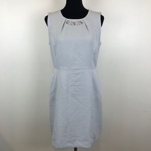 Covington Embellished Baby Blue Fitted Dress